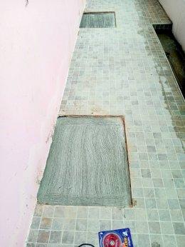 ผลงานกดเข็มเสริมฐานราก แก้ไขบ้านทรุด ไซด์งาน : ท่าอิฐ จ.นนทบุรี