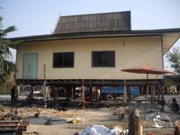 ผลงาน ดีดบ้าน ยกบ้านไม้ ยกโครงสร้างบ้านทั้งหลังให้สูงขึ้น บริการปรึกษาปัญหาบ้านทรุดฟรี