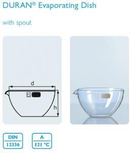 Evaporating dishes 320 mL