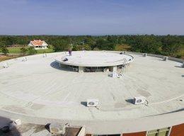 โครงการ ปรับปรุงพื้นดาดฟ้า ระบบกันซึมชนิดเสริมใยแก้ว มหาวิทยาลัยบูรพา วิทยาเขตสระแก้ว