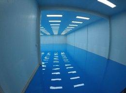 งานพื้น Epoxy Self-Leveling โรงงานแรบบิท เบสท์ ฟู๊ด จ.สมุทรสาคร