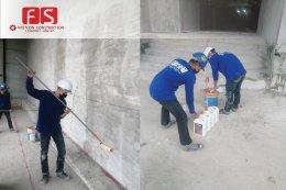 งานทาน้ำยารองพื้น ป้องกันความชื่น TOA  Moistre Guard