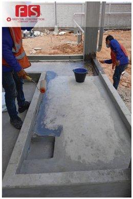 งานเคลือบพื้นและผนังบ่อปูน @TTCL-รุุ้งตะวัน ด้วย FRP & Vinylester Top coat