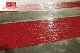 ระบบงาน  PMMA  เคลือบผิวจราจรถนนหน้าห้องขยะ  เพื่อต้านทานการลื่นไถล @Emquartier