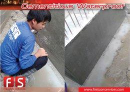 งานกันซึมระบบ Cemrntious Waterproofing Slurry 01