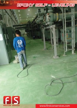 Epoxy Self Leveling โครงการ โรงไฟฟ้า บ้านโพธิ์ จ.ฉะเชิงเทรา