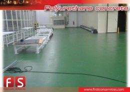 งานพื้น Polyurethane concrete@Thai Shimizu Company Limited