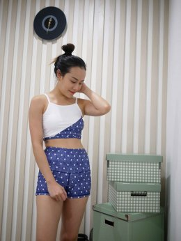 Jean Polka Dot - High Waist Shorts