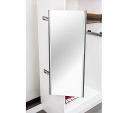 กระจกแบบหมุนพร้อมไฟแอลอีดี
