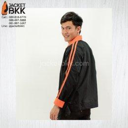 เสื้อแจ็คเก็ตสีดำตัดต่อสีส้ม - ขอบคุณลูกค้า #nestle
