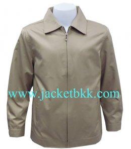 Jacket เสื้อแจ็คเก็ตนำเข้า คอปกสีน้ำตาลอ่อน