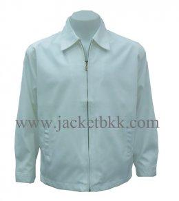 เสื้อแจ๊คเก็ตนำเข้าสีขาวล้วน