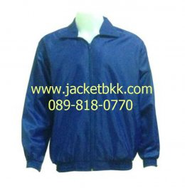 แจ็คเก็ตผ้าร่ม สีน้ำเงิน