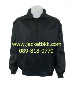 เสื้อแจ็คเก็ตผ้าร่ม สีดำ
