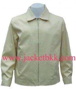 Jacket เสื้อแจ็คเก็ตนำเข้า คอปกสีครีม