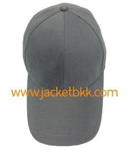 หมวกแก๊ป ผ้าพีช ไม่มีแซนวิช ไม่เจาะรู สีเทา