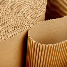 กระดาษลูกฟูกม้วน กระดาษลูกฟูก 2 ชั้น