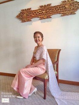 Review ชุดไทยสีพิงค์โกล์ด / สีชมพู / สีโอล์ดโรส / สีชมพูกลีบบัว / สีม่วงกลีบบัว