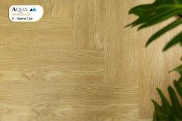 พื้นไม้ SPC ก้างปลา สี Natural Oak