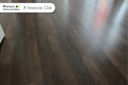 พื้นไม้ลามิเนต สี American Walnut