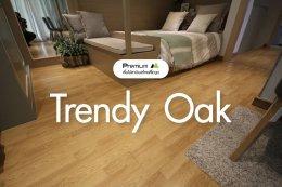 พื้นไม้ลามิเนต สี Trendy Oak
