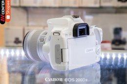 ขาวจั๊ว.ตัวเล็ก..สเปคสุดจี๊ด CANON EOS 200D mark II (WHITE) + EF-S 18-55 mm F4-5.6 IS STM