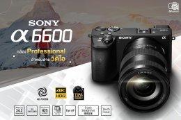 SONY A6600 กล้อง Professional สำหรับสายวิดีโอ