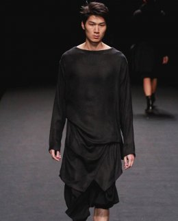 Black Silk Layer Dress