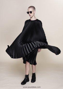 Satin Loose Pleated Dress