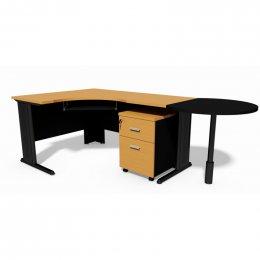 ชุดโต๊ะทำงานขาเหล็ก EXTRA