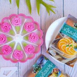 """วิธีการทำ """"วุ้นเค้กซูซิ ดอกไม้"""" สูตรคุณกัลยา"""