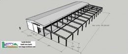 แจกแบบ 3D โรงงาน แบบอาคารอเนกประสงค์ มีชั้นลอย ฟรี