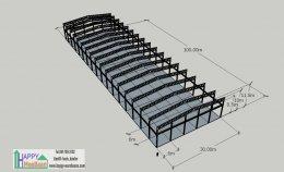 แจกแบบ 3D โรงงาน แบบคลังสินค้า ขนาดใหญ่ ฟรี