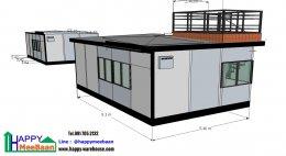 แจกแบบบ้านสำเร็จรูป แบบบ้านน็อคดาวน์ แบบ 3D 1ห้องนอน 1ห้องน้ำ 1ห้องครัว มีชั้นลอย
