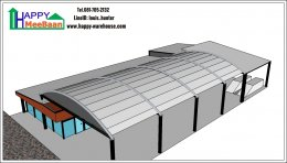 แจกแบบร้านคาร์แคร์ ใช้โครงสร้างโกดัง และแบบบ้านน็อคดาวน์ บ้านสำเร็จรูปทำ ฟรี