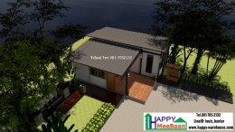 แจกแบบบ้าน แบบรีสอร์ทขนาดเล็ก แบบบ้านน็อคดาวน์ บ้านสำเร็จรูป