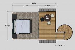แจกแบบบ้าน 3D แบบรีสอร์ท แบบบ้านน็อคดาวน์ 2 ชั้น แบบบ้านสำเร็จรูป
