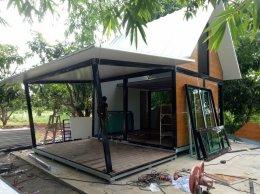 บ้านสำเร็จรูป ทำบ้านพักในสวน จอมทอง ราชบุรี