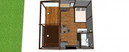 แจกแบบบ้าน แบบรีสอร์ทขนาดเล็ก แบบบ้านน็อคดาวน์ บ้านสำเร็จรูป3D