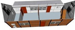 สร้างบ้านน็อคดาวน์ สองชั้น โครงสร้างเหล็ก