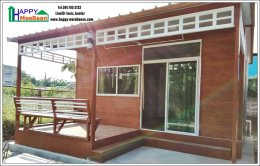 สร้างบ้านน็อคดาวน์ บ้านสำเร็จรูป ราคาถูก แข็งแรง