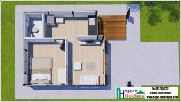 แจกแบบบ้าน แบบบ้านน็อคดาวน์ บ้านสำเร็จรูป 3D