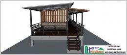 สร้างบ้านพัก สร้างรีสอร์ท ระบบสำเร็จรูป  เพชรบุรี