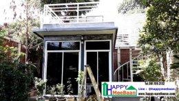 สร้างบ้านพัก สร้างออฟฟิศสำเร็จรูป สร้างห้องดูหนัง สวยงาม มีชั้นลอย มีบันไดวน
