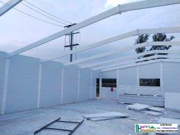 สร้างออฟฟิศ สร้างคลังเก็บสินค้า สร้างโรงงาน ด้วยผนังEPS Isowall Sandwich panel ระบบบ้านสำเร็จรูป