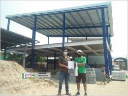 สร้างอาคารสองชั้น สร้างออฟฟิศสองชั้น สร้างบ้านสไตล์โมเดิร์น โครงสร้างเหล็ก
