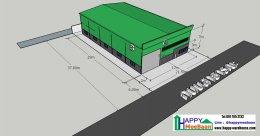 สร้างคลังสินค้า ร้านค้าโครงเหล็ก ระบบโกดังสำเร็จรูป