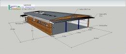สร้างร้านค้า สร้างโชว์รูม สร้างคลังสินค้า โครงสร้างเหล็ก ด้วยผนัง หลังคา EPS