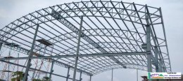 สร้างโรงงาน หลังคาโค้ง สร้างโกดัง สร้างคลังสินค้า ระบบโกดังสำเร็จรูป Happy Warehouse