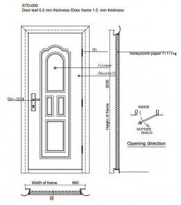 ประตูนิรภัยเหล็กสำหรับ การสร้าง โกดัง โรงงาน และบ้านสำเร็จรูป